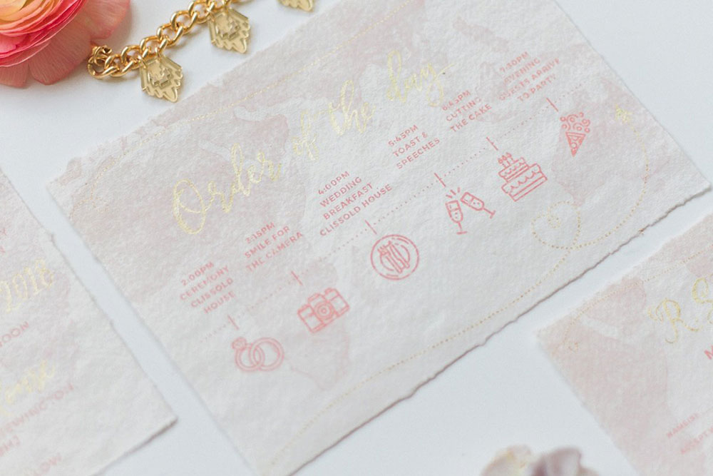 Wedding stationery - Wanderlust themed wedding