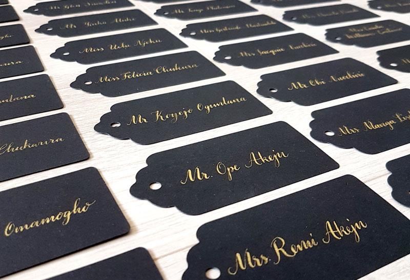 Calligraphy Place cards-stylish wedding