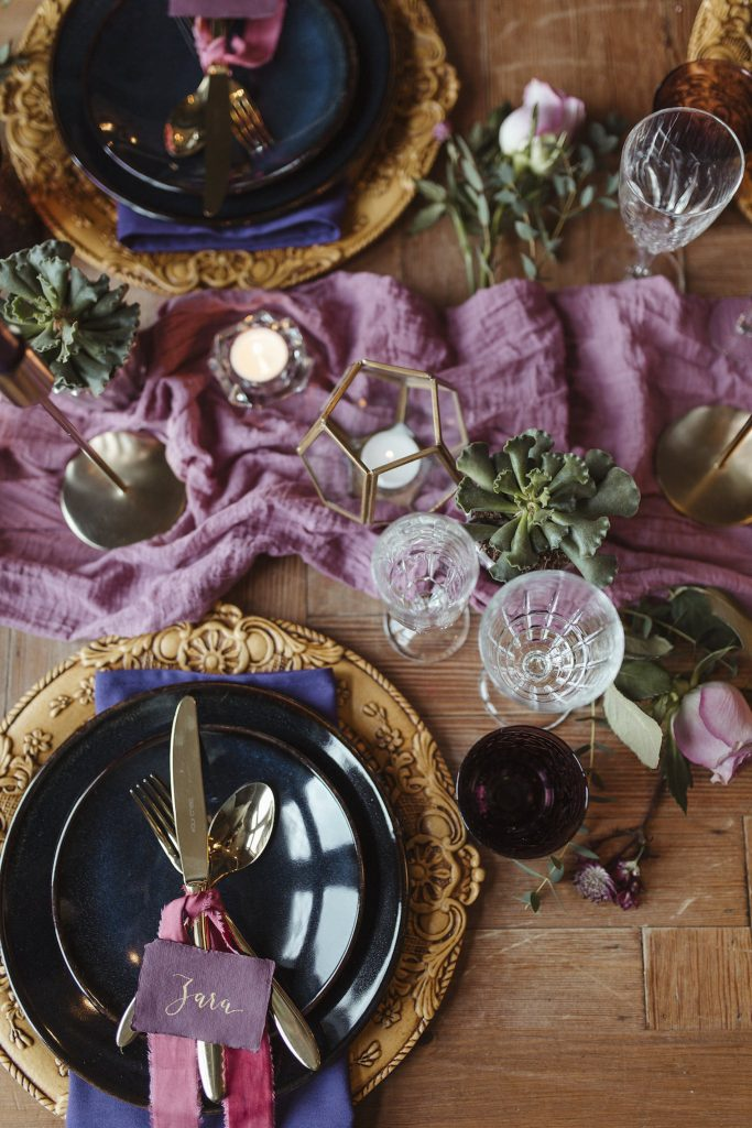 Bohemian Wedding dinner table
